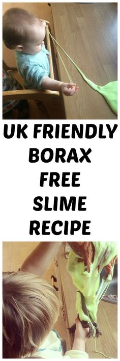 2 ingredient homemade slime recipe (UK)