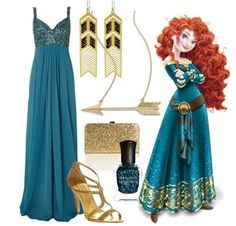 Besides the Disney.. I love the dress with gold shoes and a gold purse for prom!