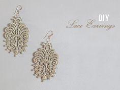 DIY Weddings   Lace Earrings