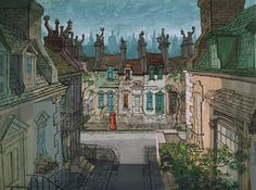 Walt Peregoy-Living Lines Library: One Hundred and One Dalmatians (1961) - Final Backgrounds