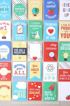 Free Printable Lunch Box Note Cards   Back to School Printables   See more creative ideas on http://TodaysCreativeLife.com