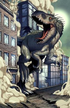 """mikegoesgeek: """" The newest addition in the series and also available at SDCC! The Indominus Kaiju! Remember the Popzilla kickstarter link is located in my page bio! Or visit it. Jurassic World Hybrid, Jurassic World 2015, Jurassic Park Series, Jurassic World Dinosaurs, Jurassic World Fallen Kingdom, Dinosaur Sketch, Dinosaur Drawing, Dinosaur Art, Jurassic World Wallpaper"""