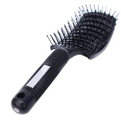 Iebeauty® Big Professional Salon Soft Complex Vent Curved Hair Brush and Comb Kit For Men Women Thick Hair Tangle Helper Smoothing (Black) >>> Trust me, this is great! Click the image. : Hair Tools