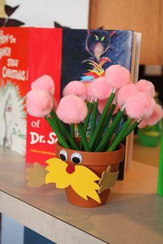 Truffula tree pencils for Ms Karr's class