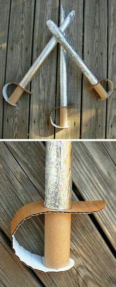 Espada de rolo de papel toalha