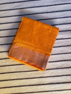 Buy Turmeric yellow Mangalgiri Silk Cotton Saree with sea green Pallu & silver jari Border Silk Cotton Sarees, Turmeric, Sea, Yellow, Green, Silver, Dresses, Vestidos, The Ocean