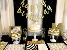 Sephora-inspired theme for Mila's birthday party created by Events by Emerson 40th Birthday Party Themes, Surprise 30th Birthday, Simple Birthday Decorations, Sleepover Birthday Parties, 35th Birthday, Birthday Ideas, Black And Gold Theme, Black Gold Party, Makeover Party