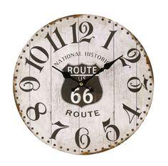 Väggklocka retro / Shabby chic - Route 66 M