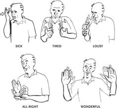 #Signs in #ASL for various types of weather phenomenon