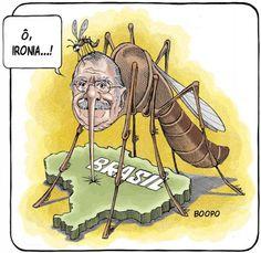 Mosquitão Sarney picado pelo mosquito da Dengue