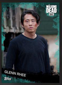 Glenn Rhee (Teal Parallel) Insert Card The Walking Dead 2016 Topps