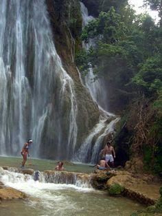 Cascada del limón. En algún lugar de la República Dominicana.