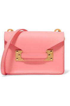 new arrival 0014b 9b3cd Pink leather (Calf) Tab-fastening front flap Designer color  Bright Pink  Comes