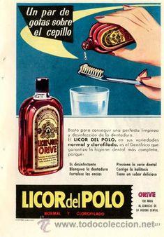 Página Publicidad Original *LICOR DEL POLO · ORIVE* Agencia CENTRAL PUBLICIDAD -- Año 1959