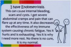 This, in addition to arthritis, celiac and a few other chronic issues. My body is d.o.n.e   Endo Support Board - I have this condition and it's a struggle