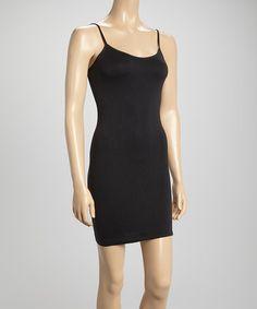 Love this Black Seamless Slip Dress - Women by Under 20 Honey on #zulily! #zulilyfinds