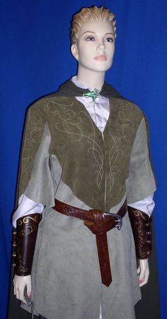 Lord of the Rings Legolas Suede JERKIN TUNIC Jacket Costume. $1,300.00, via Etsy.