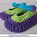 Tuto Chaussons B�b� au Crochet Un tuto qui m'a vraiment beaucoup aidé dans la confection de mes petits chaussons au crochet, Merci Miss Coquillage