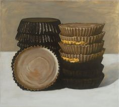 Soojin Kim, Peanut Butter Cups, 2008. Oil on canvas.  Love this.