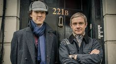 Benedict Cumberbatch and Martin Freeman in Sherlock. Series four confirmed. Yeahhhhhh, this is the best thing that could happen today!