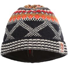 Boys Navy Blue Knitted Hat CATAMINI