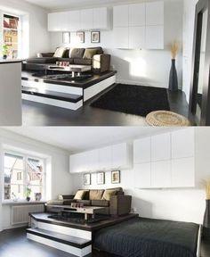 Выдвижная кровать или кровать на подиуме