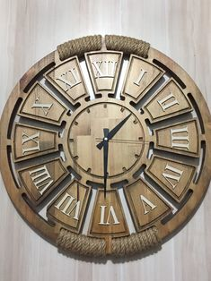 Wooden Clock, Wooden Walls, Bicycle Clock, Laser Cutter Projects, Clever Logo, Time Clock, Milling, Oclock, Diy And Crafts