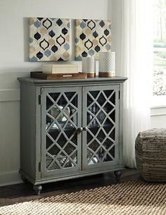 Mirimyn Multi Door Accent Cabinet By Signature Design Ashley Get Your At Railway Freight Furniture