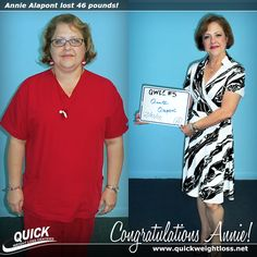 """Congratulations to medical professional Annie Alapont from Miami, Florida for losing 46 pounds on the Quick Weight Loss Centers program!  """"After losing 46 pounds, I feel great, confident, and have more energy. I am a nuclear medicine technologist for a small cardiology group, and now every time a patient comes in and needs to lose weight I am called in."""" -Annie.  Read her Quick Weight Loss success story: http://quickweightloss.net/testimonials?id=46.alapont"""