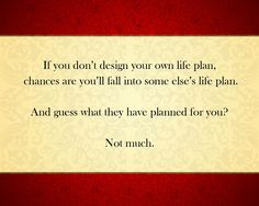 Make your plan now!