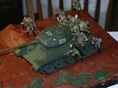 """""""Tank riders"""" T-34/85 with Soviet Infantry."""