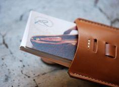 Maxm Leaves Fern Green Branch Leather Passport Holder Cover Case Travel One Pocket
