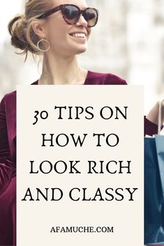 Jan 2020 - You don't have to be famous or rich to look like a million bucks. If you want to look stylish and chic on the regular without breaking the bank, here is a guide on how to look posh and expensive on a budget. How To Look Rich, How To Look Classy, Look Chic, How To Look Pretty, That Look, How To Look Better, Classy Looks, Classy And Fabulous, How To Feel Beautiful