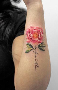 peony tattoo © Deborah Genchi
