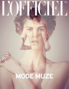 Dutch goddess Saskia de Brauw graces two covers of L'Officiel Netherlands' April-May edition. The Dutch model poses for Matthew Brookes.