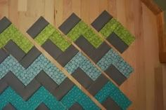 crazy mom quilts: how to make a Chevron quilt - USING NO TRIANGLES!!!! Made this for my grandson and it was so easy!!! LOVE IT!