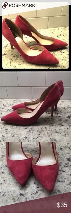 90d66dd5c3de46 Pink Suede WHBM Pumps - Worn Once! Worn once to the office.