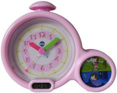 You'll get years of value from this clock, plus more precious sleep for everyone! First, kids will focus in on the small, stay-in-bed picture clock. It features two scenes: a waking and sleeping child. Picture Clock, Bed Picture, Picture Lights, Learn To Tell Time, Baby Wall Decor, Dream Kids, Shops, Digital Clocks, Stay In Bed