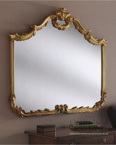 Hilton Made The Uk Large Gold Overmantle Glass Wall Mirrors