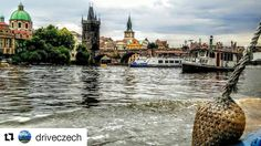 Prague view with @driveczech  Back in lovely Prague  #Vltava #river #city #czech #building #old #boat #sky #wow #instapic #instadaily #picoftheday