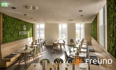 Moosbilder - Mooswände - Polstermoos Conference Room, Table, Furniture, Home Decor, Floor Covering, Room Interior Design, Refurbishment, Homes, Respect