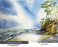 Landscape XX 2016 / Watercolour 30x40cm  on Fabriano CP © janinaB. 2016