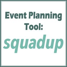 Great new event planning tool to try out: SquadUP #PreppyPlanner
