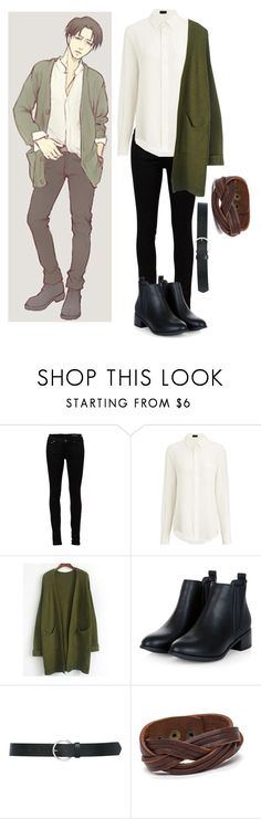 """""""Modern attack on Titan//Levi Ackerman"""" by gglloyd ❤ liked on Polyvore featuring Yves Saint Laurent, Joseph, Levi's, M&Co and modern"""