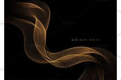 Dark Backgrounds, Line Design, Waves, Texture, Abstract, Illustration, Gold, Surface Finish, Summary