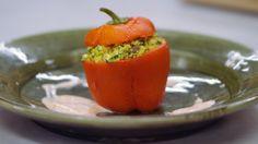 Eén - Dagelijkse kost - gevulde paprika's met couscous en feta