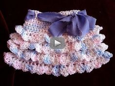 crochet RUFFLED SKIRT, how to diy, make it any size, baby to adult, swing skirt, shells, - Make a crochet skirt with ruffles, any size. Start with a foundation chain that reaches around the largest part of the hips, then crochet a yoke, add a