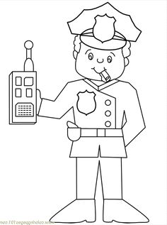 Police Officer Printables Free Printable Coloring Page Police22