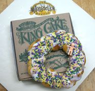 Can't have Mardi Gras without King Cake! One of my favorites is from Haydel's in Metairie. Yum!