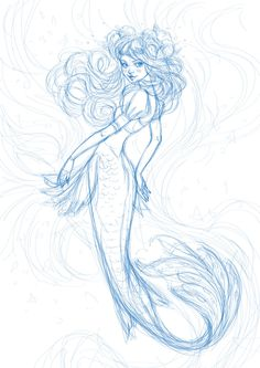 How to create a watercolor mermaid illustration in adobe illustrator Mermaid Artwork, Mermaid Drawings, Drawings Of Mermaids, Easy Mermaid Drawing, Beautiful Mermaid Drawing, Mermaid Illustration, Illustration Art, Mermaid Pose, Mermaid Mermaid